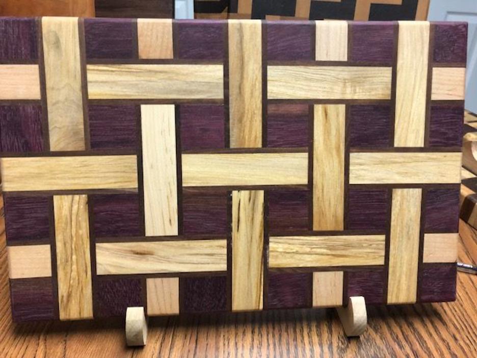 Material: Purple Heart, Walnut & Maple